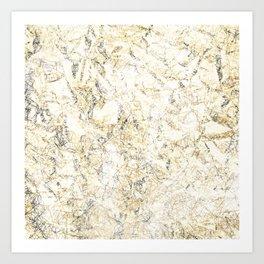 Gold abstract Art Print