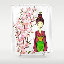 Honorable Chinese Girl Shower Curtain