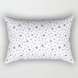 Forget-Me-not flowers and heart Rectangular Pillow