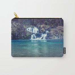 Teal Blue Waterfall Cove Carry-All Pouch
