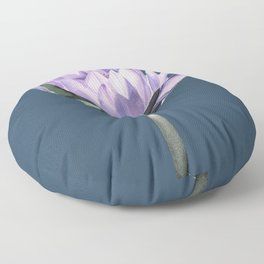 Water Lily with a teal background Floor Pillow
