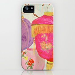 Vintage Chinese Blossom Lanterns iPhone Case