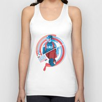 winter soldier Tank Tops featuring The Winter Soldier by Florey