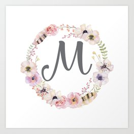 Floral Wreath - M Art Print