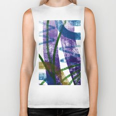 walk in tall grass Biker Tank