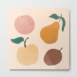 Four Fruit Metal Print