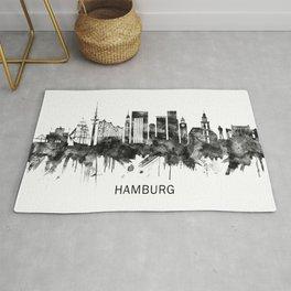 Hamburg Germany Skyline BW Rug