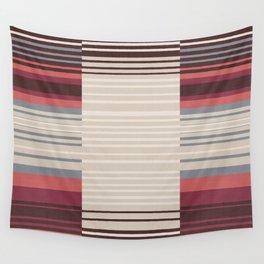 Bauhaus Stripe in Red Multi Wall Tapestry