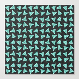 black cyan pattern Canvas Print