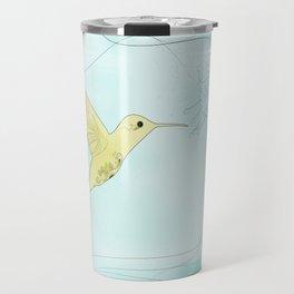 Humming bird with fuchsia Travel Mug