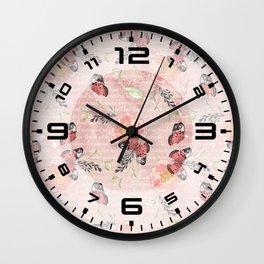 Flowers & butterflies #1 Wall Clock