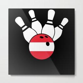 Bowling Austria Flag Metal Print