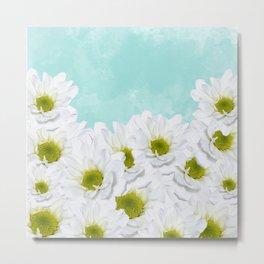 Summer Day Floral - Daisies Metal Print