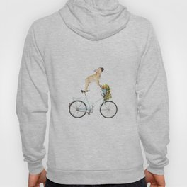 French Bulldog on Bicycle Hoody