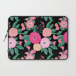 Stylish abstract creative floral paint Laptop Sleeve