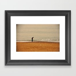 Beach Contemplation Framed Art Print