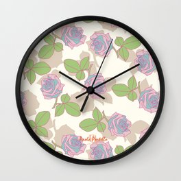 My Garden's Roses Wall Clock
