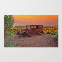 Painted desert, Arizona. Canvas Print