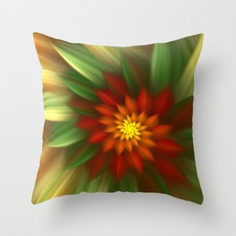 Exotic Christmas Flower Throw Pillow