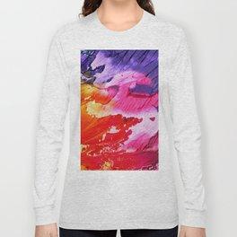Red purple paint Long Sleeve T-shirt