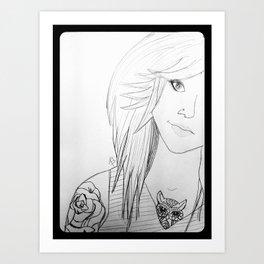BodMod Girl. Art Print