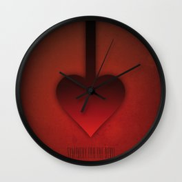 SMOOTH MINIMALISM - Sympathy For The Devil Wall Clock