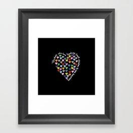 Hearts Heart Teacher Black Framed Art Print