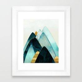 Gold and Blue Hills Framed Art Print