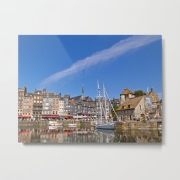 The Old Harbour at Honfleur Metal Print