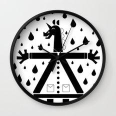 Seven Buttons Unicorn Wall Clock