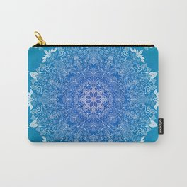 Feather   Leaf Mandala Carry-All Pouch