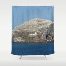 Gannets on Bass Rock, North Berwick, Scotland Shower Curtain