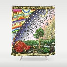 Flammarion Engraving L'atmosphère météorologie populaire Shower Curtain