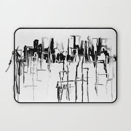 Black and White Cityscape Laptop Sleeve