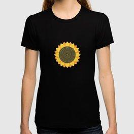 Mandala Sunflower Handmade Beautiful Amazing Color Pattern T-shirt