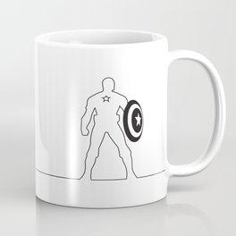 Comic One-line Silhouette No. 6 Coffee Mug