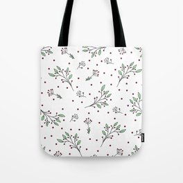 Holiday Floral Tote Bag