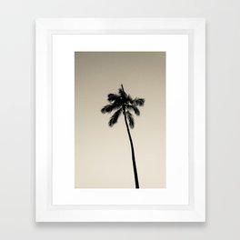 palm tree ver.coffee Framed Art Print