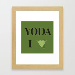 I heart Yoda Framed Art Print