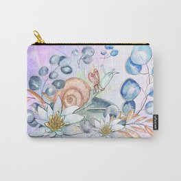 Snail and waterlily, Carry-All Pouch