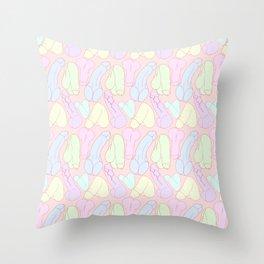Pastel Penises Throw Pillow