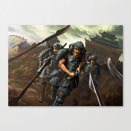 Shock troop Canvas Print