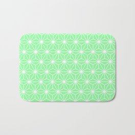 Pastel Green Flowers and Florals Isosceles Triangle Bath Mat
