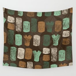 Logs Wall Tapestry