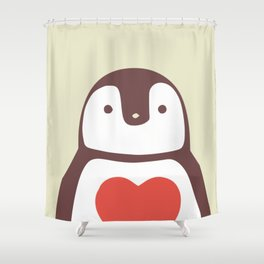 I love penguin Shower Curtain