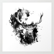 Once upon a Stag Art Print