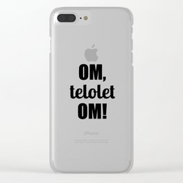 Om Telolet Om Clear iPhone Case