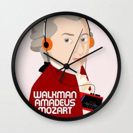W. Amadeus Mozart Wall Clock