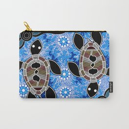 Sea Turtles - Authentic Aboriginal Art Carry-All Pouch
