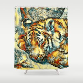 AnimalArt_Tiger_20170606_by_JAMColorsSpecial Shower Curtain